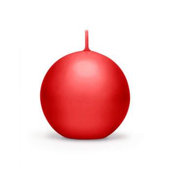 Vela pequeña bola roja 10 piezas- Compra en The Wedding Shop