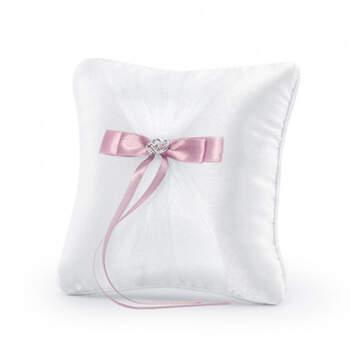 Porta anillos lazo rosa- Compra en The Wedding Shop