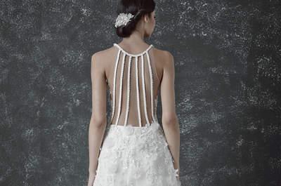 70 vestidos de novia con escote en la espalda 2017: ¡impresiona a todos con estos maravillosos escotes!