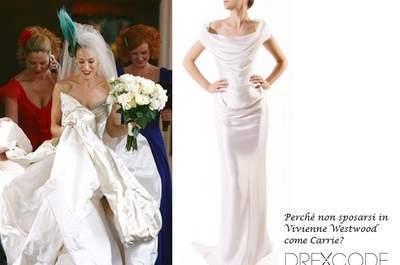 Perchè non sposarsi in Vivienne Westwood come Carrie? Su Drexcode si può!