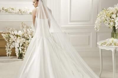 Hermosos velos largos estilo catedral 2013 para novias