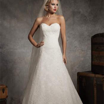 Vestido de noiva Justin Alexander 2013: decote coração.