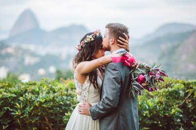 Casamento ao ar livre de Marina e John: uma das vistas mais lindas do mundo como cenário!