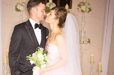 Pretty in Pink: Celebs Skip the White Wedding Dress Tradition