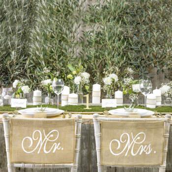 Decoraciones silla Mr y Mrs- Compra en The Wedding Shop