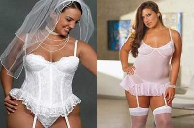 Hochzeitsdessous für Mollige