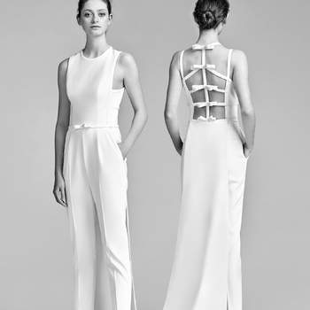 Bow Back Jumpsuit. Credits- Viktor and Rolf.