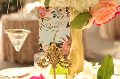 Indicadores de mesa para decorar tu boda: Cómo aprovecharlos al máximo