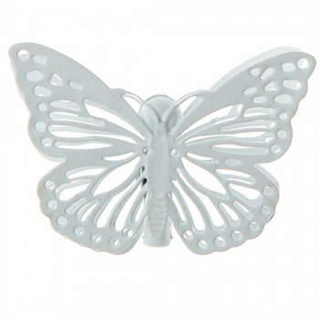 Mariposas Blancas Con Pinza 4 Unidades- Compra en The Wedding Shop