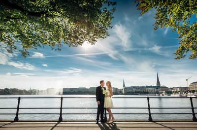 Hamburger Real Wedding: Wie modern und romantisch sich Alex und Marina in der Speicherstadt das Ja-Wort geben