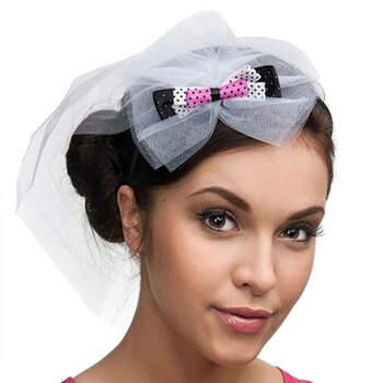 Diadema velo lazos colores- Compra en The Wedding Shop
