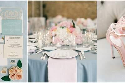 Pantone colors 2016: Kies voor de kleuren rozenkwarts en blauw serenity voor jouw bruiloft!