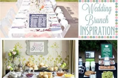 Organising a wedding brunch - make it pretty and tasty!