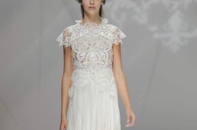 Escolha um vestido de noiva de corte recto 2017 e surpreenda os seus convidados