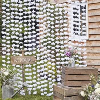 Rideau À Fond Floral - The Wedding Shop !