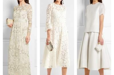 Los mejores vestidos de novia premamá según tu etapa del embarazo. ¡Se convertirán en tus favoritos!