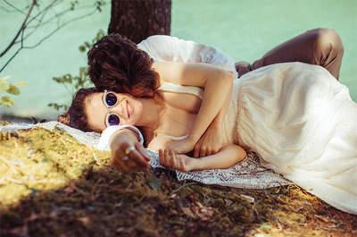Robes de mariée Elise Hameau 2018 : la douceur des lignes et les jeux de transparence