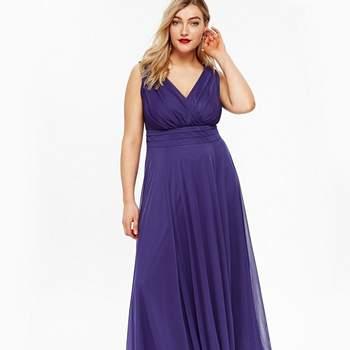 Scarlett _ Jo Purple Nancy Marilyn Chiffon Maxi Dress, Evans