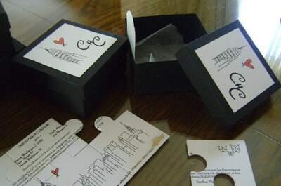 Bodas originales: invitaciones estilo puzzle