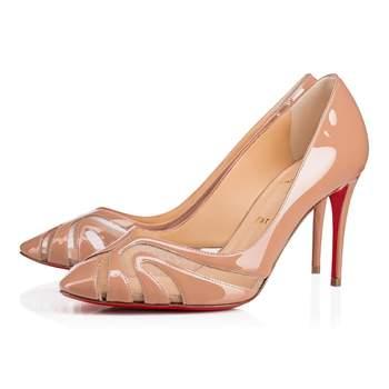 Chaussures de mariée blanches Olive Patent Rete, Christian Louboutin