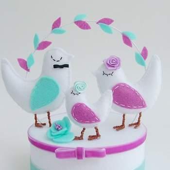Cake-Topper in verschiedenen Farben