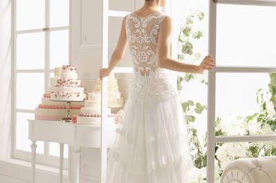 Dekolty w sukniach ślubnych w nowej kolekcji Aire Barcelona 2015