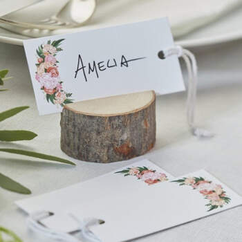 Etiquetas de boda flores 10 unidades- Compra en The Wedding Shop