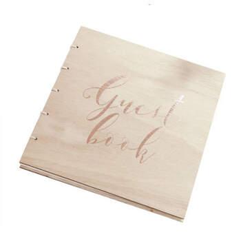 Libro de firmas amor de madera- Compra en The Wedding Shop