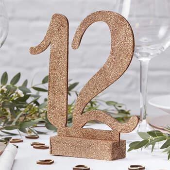 Foto: Números Marcasitio Glitter de 1 a 12