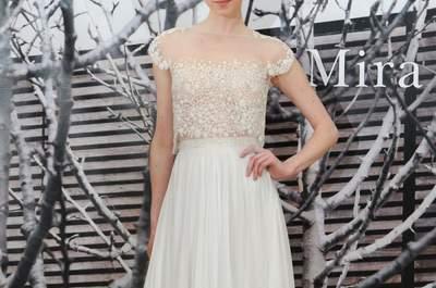 Una estética encantadora y atemporal: Vestidos de novia primavera 2015 de Mira Zwillinger