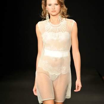 Ensemble de lingerie La Perla 2012 et sa sur-chemise transparente. Languid Night
