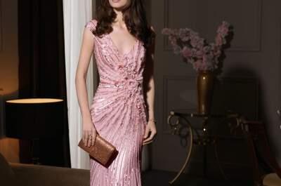 Vestidos de fiesta 2014 color rosa de Aire Barcelona