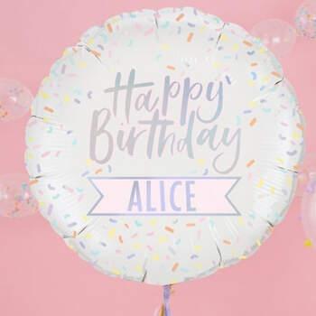 Globo de feliz cumpleaños personalizable- Compra en The Wedding Shop