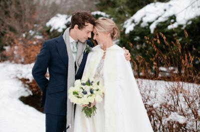 Doskonałe pomysły na swój ślub w śniegu. Powiedź tak!
