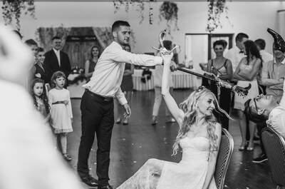Piękny ślub Sabiny i Łukasza! Wstążki, tort oblany czekoladą i romantyczna koronka!