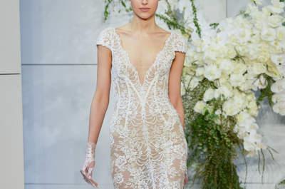 Wer nach einem zarten Design sucht wird mit diesen Spitzen-Brautkleidern fündig