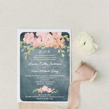 invitaciones florales - O'Malley Photographers