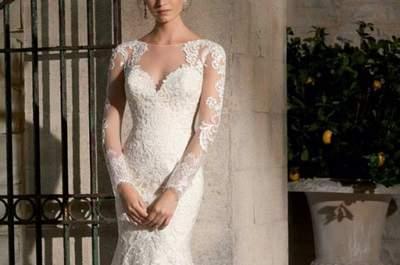 Los mejores vestidos de novia para matrimonio civil 2017. ¿Te los vas a perder?