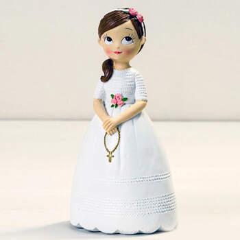 Figura Tarta de Comunión: Niña con Rosario- Compra en The Wedding Shop