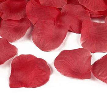 Pétalos de tela rojo 100 unidades- Compra en The Wedding Shop