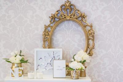 25 elementos que criaram um ambiente arrojado e elegante no casamento da Nádia e do Eduardo!