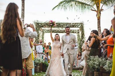 Destination wedding de Luiza & Paulo: noiva DESLUMBRANTE em casamento na Bahia!