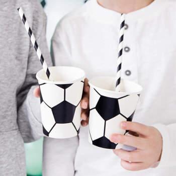 Vasos de futbol 6 piezas- Compra en The Wedding Shop