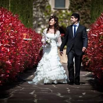 Schöne Gärten und Parks eignen sich ebenfalls für romantische Hochzeitsfotos - Foto: Cesc Giralt