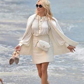 Pamela Anderson en Chanel. Foto: @thecollectiveshift
