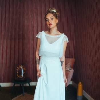 Robe de mariée bohème modèle Isabelle - Crédit photo: Elsa Gary