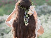 Свадебные прически на распущенные волосы