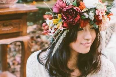 Coronas de flores para novias 2015: ¡elige la tuya!