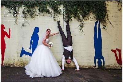 Lachen Sie mit – Lustige Hochzeitsfotos von echten Brautpaaren!