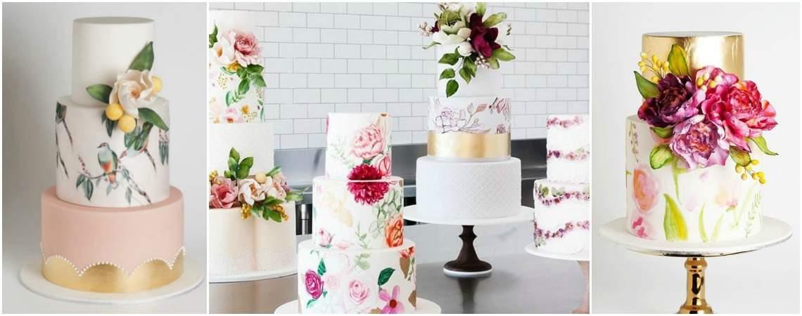 Znasz torty weselne z akwareli? Odkryj je jak najszybciej i wybierz na swój ślub!